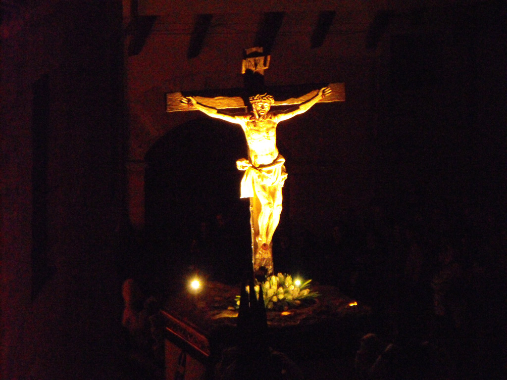 Santísimo Cristo de la Agonía o Expiación. Hermandad Penitencial de las Siete Palabras. Martes Santo.