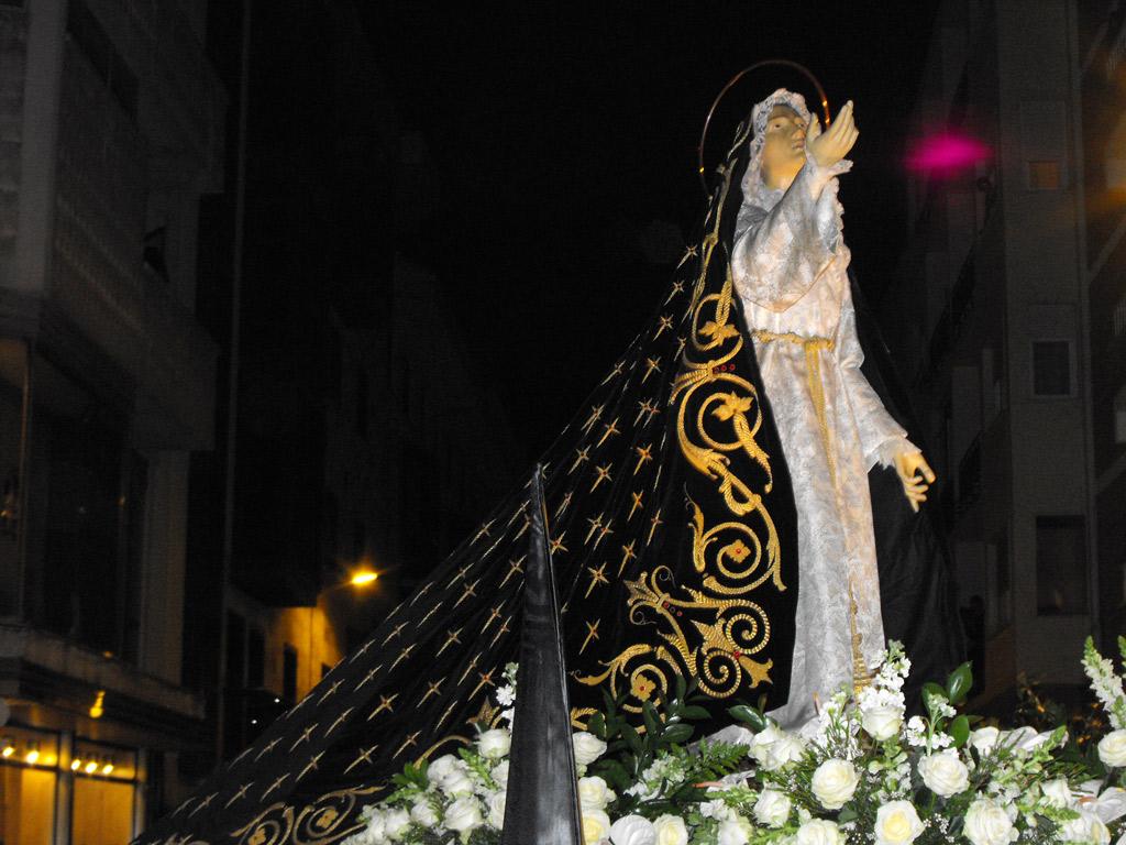 Virgen de la Amargura. Hermandad de Jesús en su Tercera Caída. Lunes Santo.