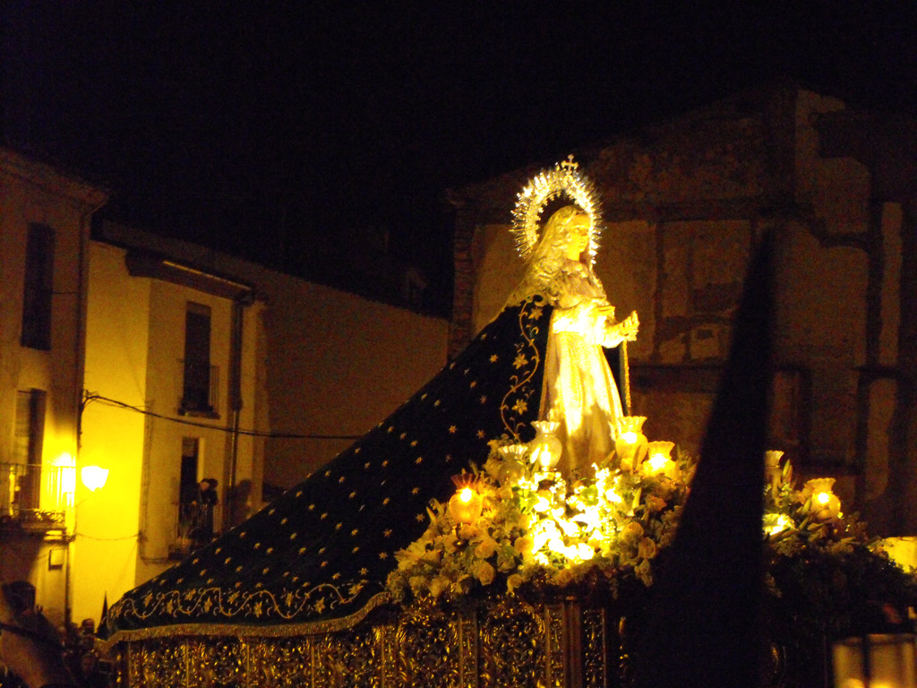 Virgen de la Esperanza. Cofradía de Jesús del Vía Crucis. Martes Santo.