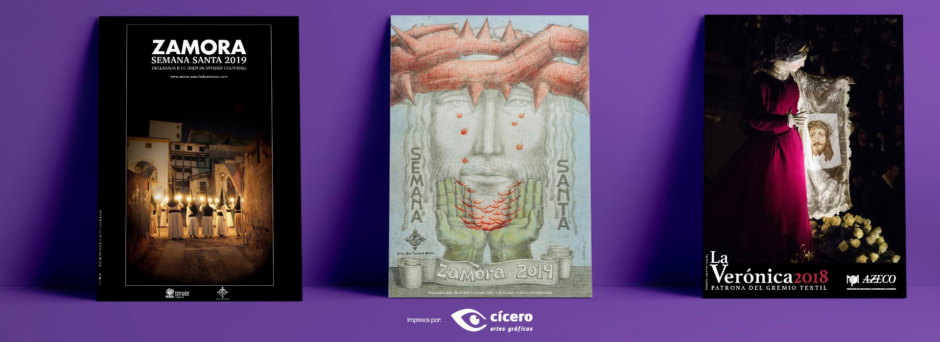 arteles Oficiales de Semana Santa de Zamora 2018. Impresos por Cícero Artes Gráficas 2019
