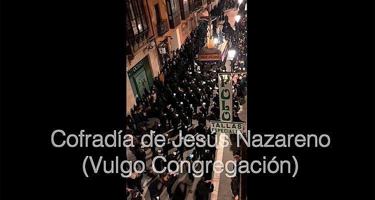 Algunos momentos del desfile de la procesión de la Cofradía de Jesús Nazareno (Vulgo Congregación)